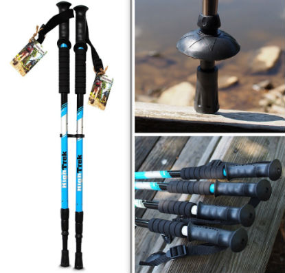 High Trek Trekking Poles / Walking / Hiking Sticks Ultralight Review: Okay  For Beginners | Best Trekking Poles Reviews