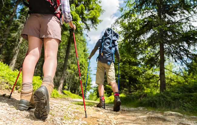 How to Set Your Trekking Pole Height